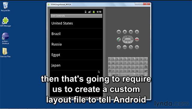 آموزش اندروید همراه زیرنویس فارسی – ایجاد کنترلرهای لیست (list ...ایجاد کنترلرهای لیست (list controls) در برنامه نویسی اندروید